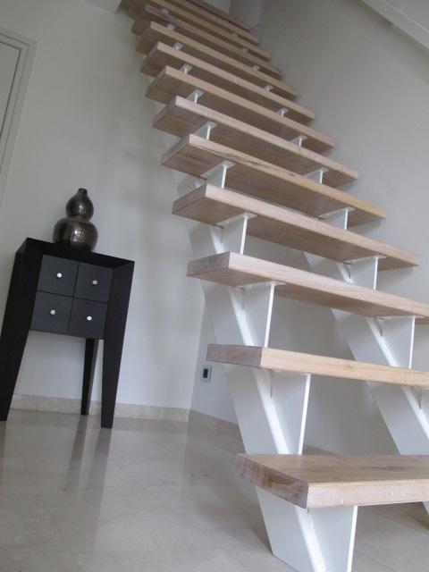 Binnentrap staal eikenhout - Binnen trap ...